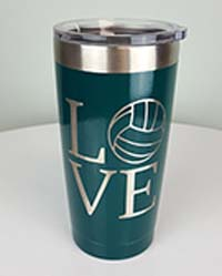 Powder Coated Yeti Rambler Tumblers and Ozark Trail Tumblers.  Personalize Tumblers, Ramblers and Growlers with with custom powdercoat colors, a Logo or Design, a personalized Monogram or your favorite Saying | Great Quality Great Products Great Service-Amazing Tumbler.com